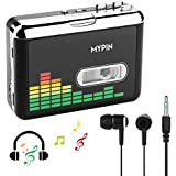USB Cassette to MP3 Converter, Portable Cassette Audio Music Player Tape-to-MP3 Converter and Cassette Recorder with Earphones No PC Required