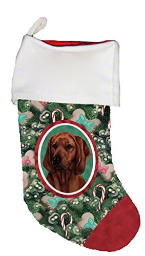 Red Bone Hound (Red Bone Coonhound - Best of Breed Dog Breed Christmas Stocking)