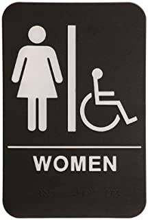 rock ridge women restroom sign blackwhite ada compliant