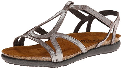 Naot Women's Dorith Gladiator Sandal, Silver Threads Leather, 40 EU (9-9.5 B(M) US Women) by NAOT