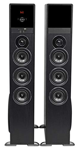 Rockville TM150B Black Home Theater System Tower Speakers 10'' Sub/Blueooth/USB by Rockville (Image #3)