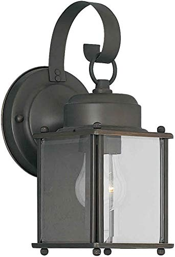 Forte Lighting 1047-01 Outdoor Wall Sconce from the Exterior Lighting Collection, Royal Bronze
