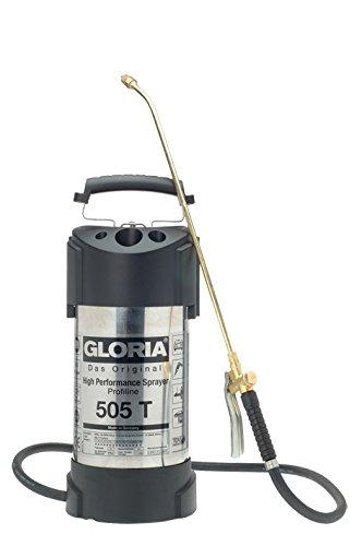Gloria Drucksprüher Hochleistungssprühgerät 5L Edelstahl Ölfest 505TProfi, silber