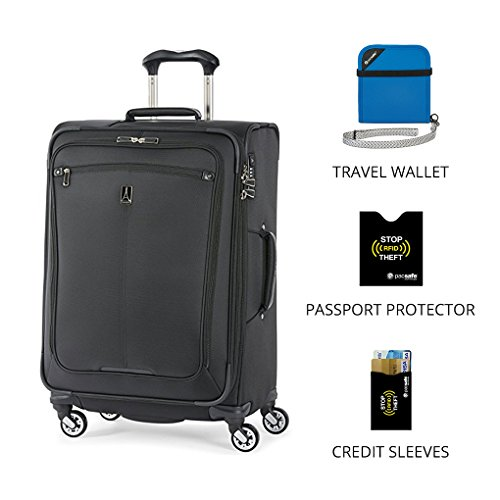 Travelpro Marquis 2 Expandable Luggage (25 Inch Black (With Travel Essentials)) For Sale
