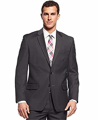 ae0492be outlet HUGO BOSS Charcoal Neat Two Button Virgin Wool New Men's Sport Coat