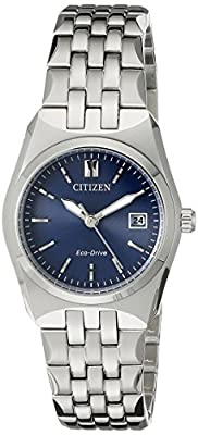 Citizen Women's Eco-Drive Stainless Steel Watch with Date, EW2290-54L by Citizen Watch Company