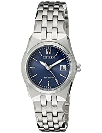 Women's Eco-Drive Stainless Steel Watch with Date,...