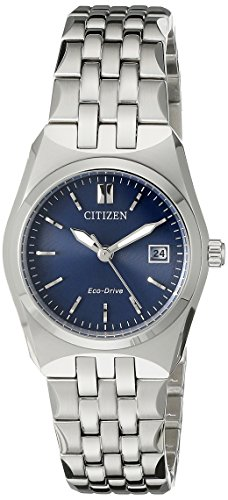 Citizen Women's Eco-Drive Stainless Steel Watch with Date, EW2290-54L - Eco Drive Stainless Steel Watch