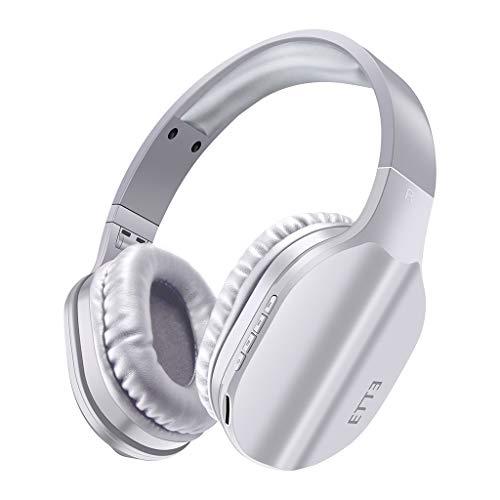 Trigle Headset OVLENG BT-608 Wireless Bluetooth Headset Game Headphone Sports Headset Stereo Earphone Headband Gaming Bluetooth Headset with Built-in Mic (White)