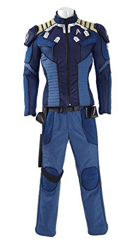 Fancycosplay Star Trek Beyond Captain Kirk Cosplay Costume Commander Battle Halloween Outfit (Captain Kirk Outfit)