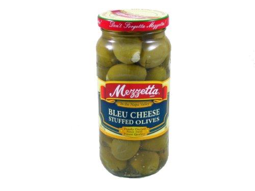 Glass Mezzetta Bleu Cheese Stuffed Olives, 9.5 Ounce(Pack Of 6) by Mezzetta