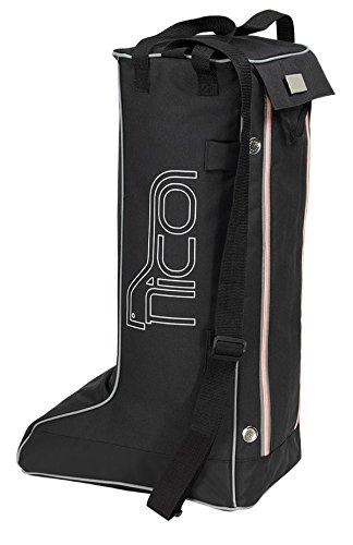 Nico Pferdesport Reitsport Boot Bag Stiefeltasche größe L schwarz Reitstiefel Sport Freizeit Schule Bag Day pac Fa. Bowatex jObOhUKLF