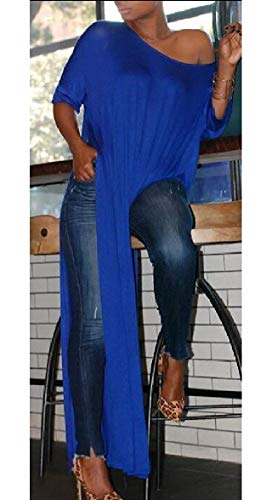 Donna Lunga Lunghe Tondo T Maniche Scollo Con Manica Rovesciata Da Krere A 2 shirt B7q1ABvg