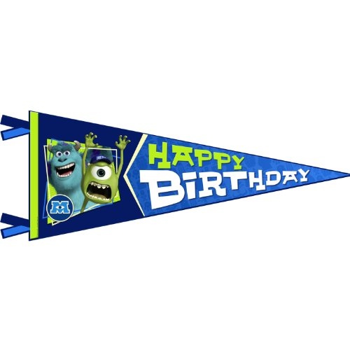 Hallmark Monsters University Inc. Happy Birthday Banner Pennant (1ct)