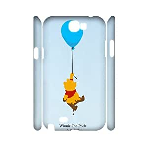 Hjqi - DIY Winnie the Pooh 3D Cover Case, Winnie the Pooh Customized Case for Samsung Galaxy Note 2 N7100