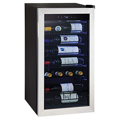 Smad Under Counter Compressor Wine Cooler Quiet Operation, Stainless Steel,28 Bottles