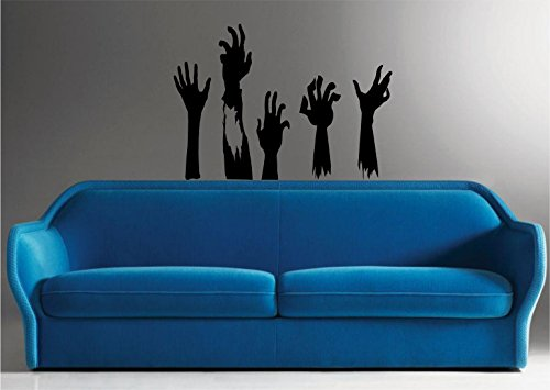 zombie hand decal - 9