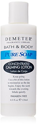 Demeter Calming Lotion, Pure Soap, 4 Ounce
