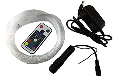 corpereal Diy 12V Multi Color Led Fiber Optic Light Kit For Indoor Home Car Ceiling Wall Lighting Decorations