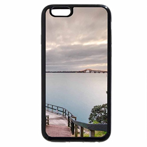 iPhone 6S / iPhone 6 Case (Black) pier down to a beautiful bay at dusk