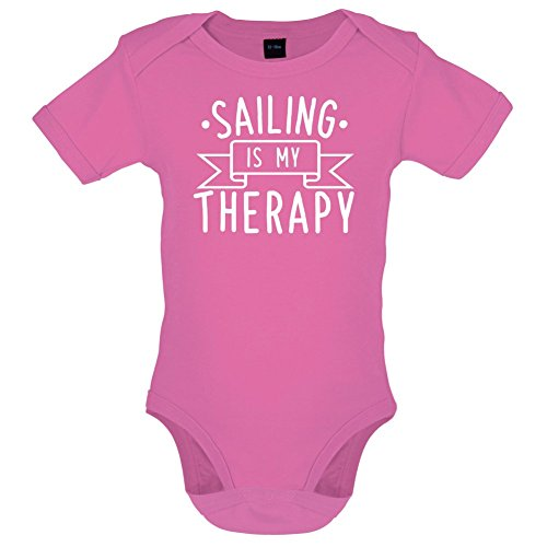 Dressdown Sailing is My Therapy - Babygrow/Bodysuit - Bubble Gum Pink - 6-12 Months ()