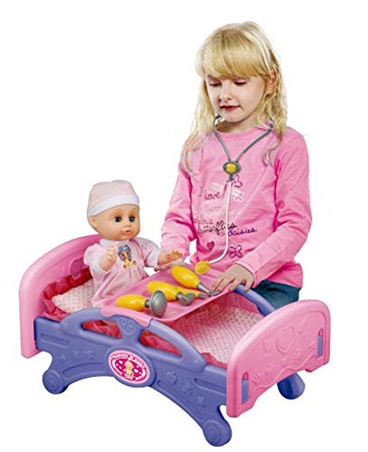Mommy & Baby Medical Bed Furniture for Dolls with Doctor Set &
