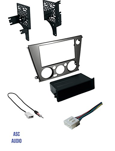 ASC Audio Car Stereo Radio Install Dash Kit, Wire Harness, and Antenna Adapter to Add an Aftermarket Radio for 2005 2006 2007 2008 2009 Subaru Legacy + Outback with Manual Climate Control (Kit Installation Manual)