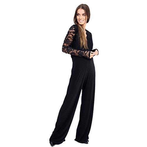 53e0cfaa69 Top Fashion18 Ladies Women s Plus Size Lace Evening Party Playsuit Romper  Jumpsuit Size 16-24  Amazon.co.uk  Clothing