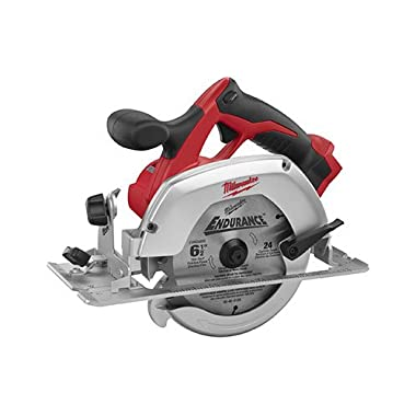 Milwaukee M18 2630-20 18 Volt Lithium Ion 6-1/2  3,500 RPM Cordless Circular Saw w/ Magnesium Guards and Included 24-Tooth Carbide Wood Cutting Blade