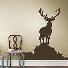 Vinyl Buck Wall Decal Nature Deer Wall Decal Animal Wall Sticker Hunting Wall Decor Sportsman Home Art Decoration Dark Brown