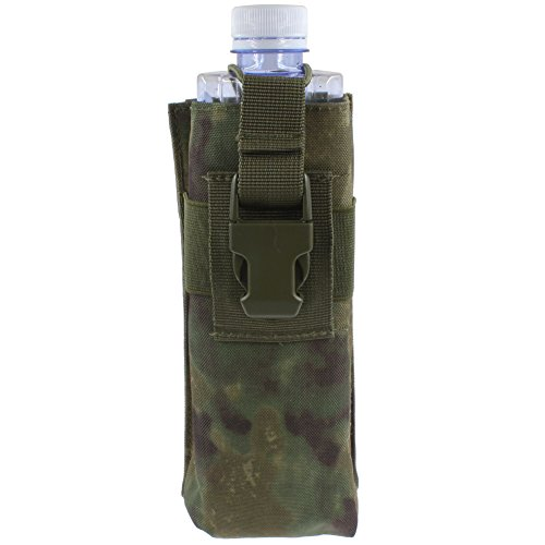 KENMAX Waterproof Tactical Military Police Hunting Walkie Talkie 600D Molle Radio Kettle Pouch Bag(FG Camouflage)