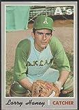 1970 Topps Larry haney A's Baseball Card #648
