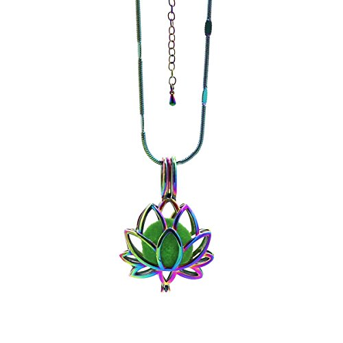 Galleon Rainbow Lotus Flower Pearl Cage Pendant Oyster Holder 10mm