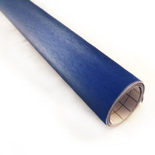 "JDMBESTBOY Blue Brushed Aluminum Chevy Chevrolet Bowtie Emblem Vinyl Car Wrap Decal Sticker Cover Self Adhesive 5""x10"" (10cm x 25cm)"