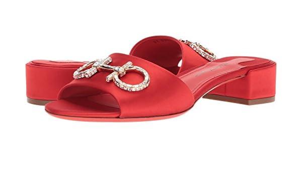 feec7306b Amazon.com  Salvatore Ferragamo Women s Lampio T Mang Rosso  Fiamma Lipstick Coral Saten 6 B US  Shoes