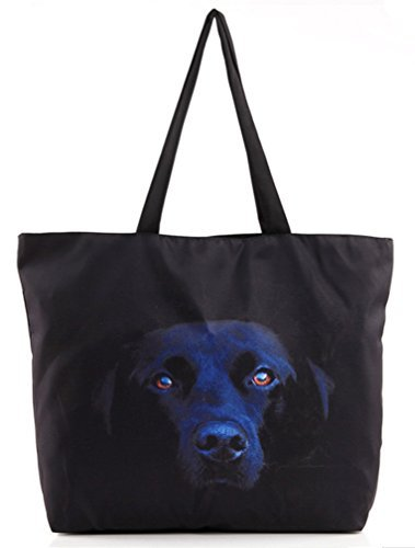 Labrador Dog Print (Belsen Women's Fashion Retro Printing Shopping Shoulder Bags)