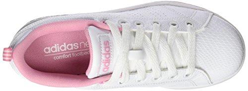 adidas Unisex-Kinder Vs Advantage CL K Laufschuhe, Bianco Elfenbein (Ftwr White/ftwr White/light Pink)