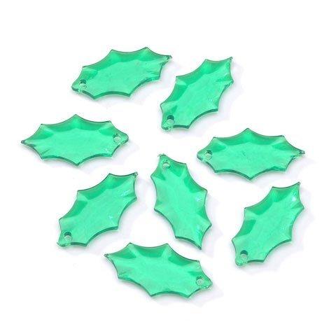 Darice Bulk Buy DIY Acrylic Beads Leaf Transparent Christmas Green 21 x 12mm 144 Pieces (1-Pack) 06900-3-T12