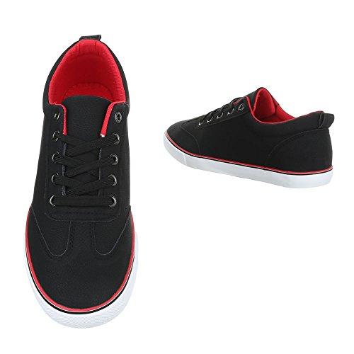 Ital-Design - Zapatos Planos con Cordones Hombre negro