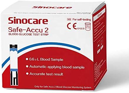 Glucosa en sangre kit de control de la diabetes kit Safe Accu2 de prueba de azúcar en sangre kit Codefree Pack 50 tiras para diabéticos-en mg/dL: Amazon.es: Salud y cuidado personal