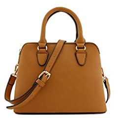 This medium/small size double compartment classic satchel bag makes easy to organize your everyday items.