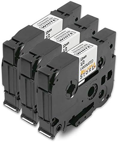 3 Farbbänder für Brother TZ 121 P touch 1850CC 9200DX RL700S 9500 1850VP D200VP