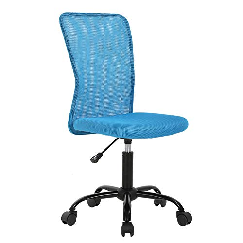 Mesh Office Chair with Ergonomic Lumbar Support Desk Chair Computer Adjustable Swivel Rolling Chair for Home&Office, Blue