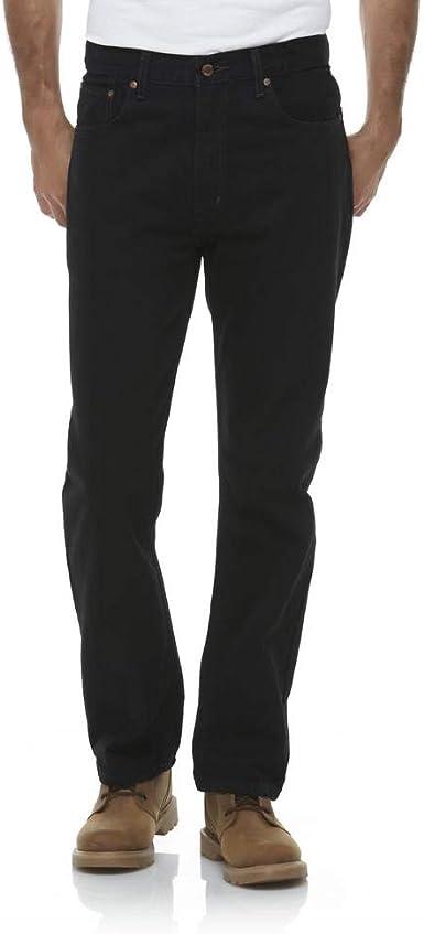 Amazon Com Outdoor Life Pantalones Vaqueros Para Hombre Corte Recto Talla 30 X 30 Color Negro Clothing