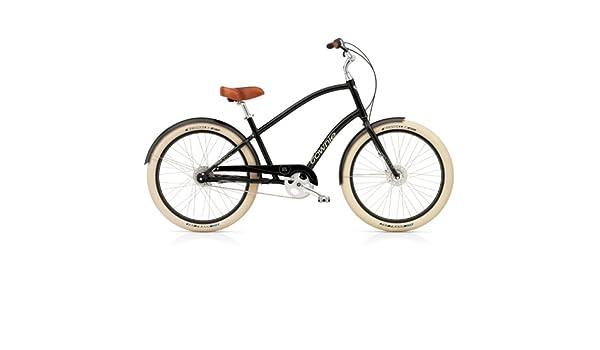Electra Townie Balloon 8i 285014E - Bicicleta para hombre, color negro y marrón: Amazon.es: Deportes y aire libre