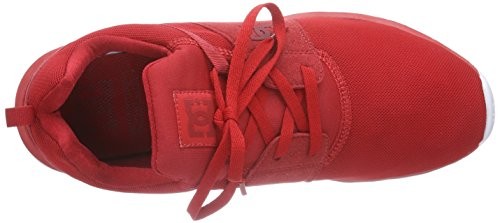 DC Shoes Heathrow M Shoe Bkw - Zapatillas para hombre, color negro Rojo - Rot (Red/White RW2)