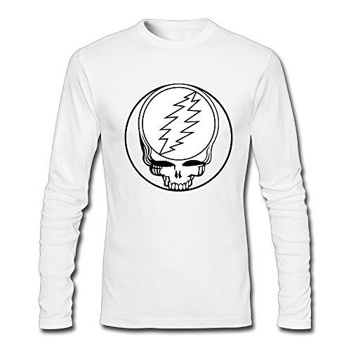 Long Sleeve Male Grateful Dead Logo T-shirts Cool T Shirts Juniors - Dead T-shirt Grateful Heavyweight
