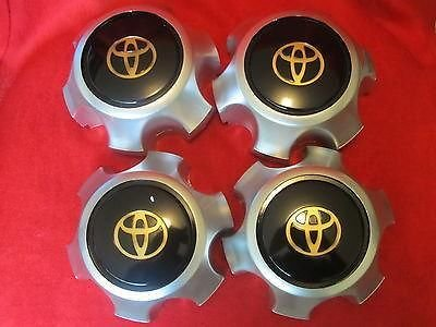 Wheel Black Alloy (4pcs. 1990-1998 Toyota Land Cruiser Fj80 Center Alloy Wheel Hub Caps Black TOP)