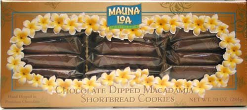 Mauna Loa Chocolate Dipped Macadamia Nut Shortbread Cookies 10-Ounce Box