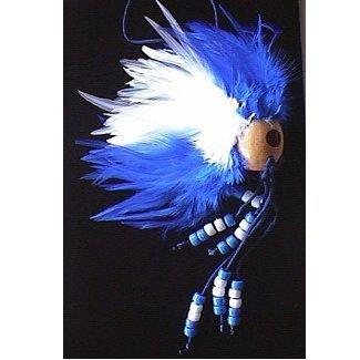 Hawaiian Blue and White Ikaika Warrior Helmet